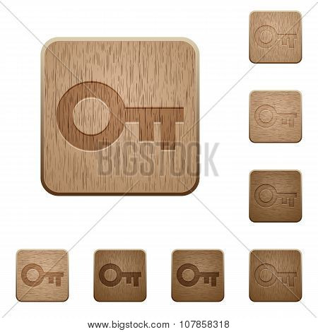 Old Key Wooden Buttons
