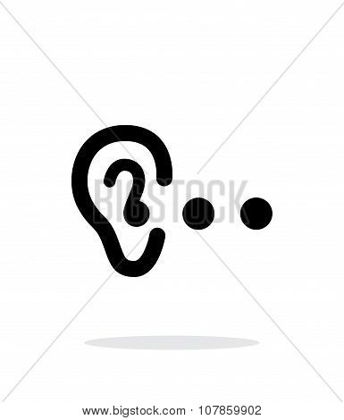 Hearing abstract simple icon on white background.