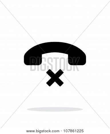 Decline call simple icon on white background.