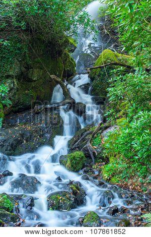 Waterfall Dartmoor National Park England