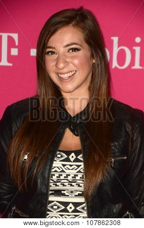 LOS ANGELES - NOV 10:  Gabby Hannan at the T-Mobile Un-carrier X Launch Celebration at the Shrine Auditorium on November 10, 2015 in Los Angeles, CA