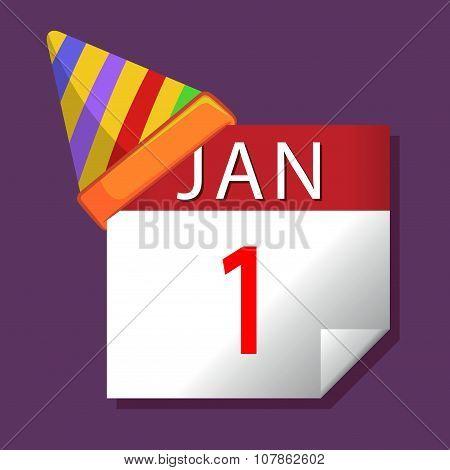 New Year January First Calendar