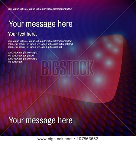 Abstract colorful  red and  blue spotted background. Place for y