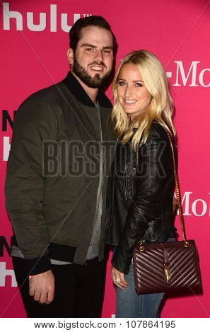 LOS ANGELES - NOV 10:  Mike Moustakas at the T-Mobile Un-carrier X Launch Celebration at the Shrine Auditorium on November 10, 2015 in Los Angeles, CA