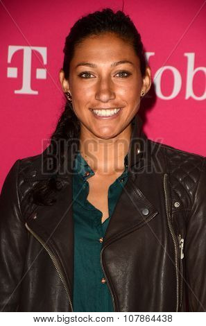LOS ANGELES - NOV 10:  Christen Press at the T-Mobile Un-carrier X Launch Celebration at the Shrine Auditorium on November 10, 2015 in Los Angeles, CA
