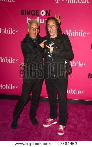 LOS ANGELES - NOV 10:  Andy Dick, John Legere at the T-Mobile Un-carrier X Launch Celebration at the Shrine Auditorium on November 10, 2015 in Los Angeles, CA