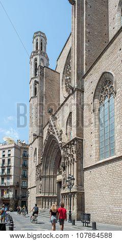 Basilica De Santa Maria Del Mar. Barcelona, Spain.