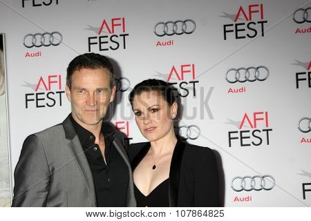 LOS ANGELES - NOV 10:  Stephen Moyer, Anna Paquin at the AFI Fest 2015 Presented by Audi -