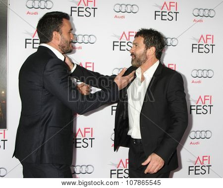 LOS ANGELES - NOV 9:  Juan Pablo Raba, Antonio Bandares at the AFI Fest 2015 Presented by Audi -