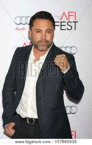 LOS ANGELES - NOV 9:  Oscar De La Hoya at the AFI Fest 2015 Presented by Audi -