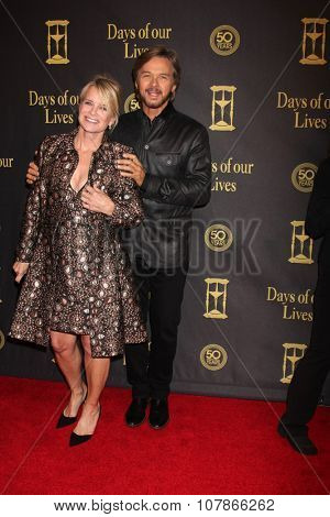 LOS ANGELES - NOV 7:  Mary Beth Evans, Stephen Nichols at the Days of Our Lives 50th Anniversary Party at the Hollywood Palladium on November 7, 2015 in Los Angeles, CA