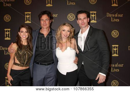 LOS ANGELES - NOV 7:  Kate Mansi, Patrick Muldoon, Christie Clark, Austin Peck at the Days of Our Lives 50th Anniversary Party at the Hollywood Palladium on November 7, 2015 in Los Angeles, CA
