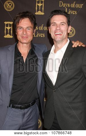 LOS ANGELES - NOV 7:  Patrick Muldoon, Austin Peck at the Days of Our Lives 50th Anniversary Party at the Hollywood Palladium on November 7, 2015 in Los Angeles, CA