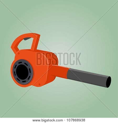 cartoon leaf blower