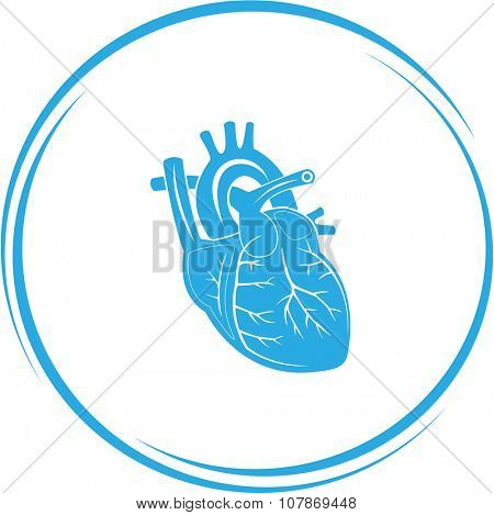 heart. Internet button. Raster icon.