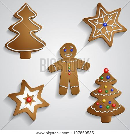 Ginger bread man tree and stars