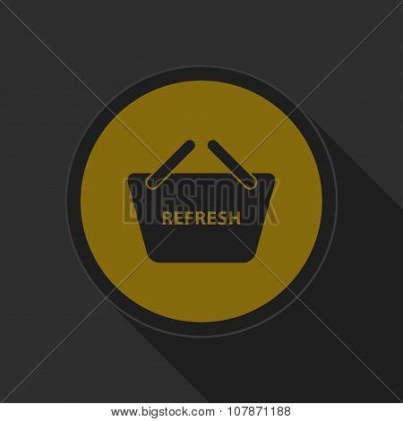 Dark Gray And Yellow Icon - Shopping Basket Refresh