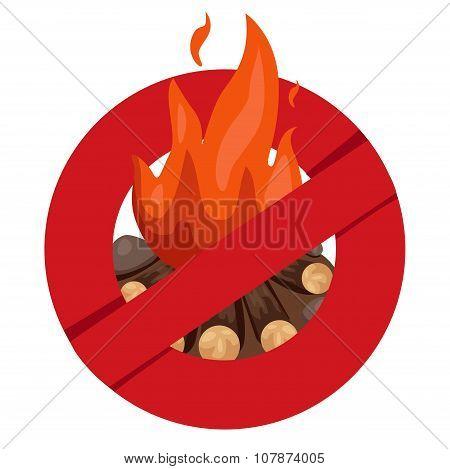 Illustrator of anti bonfire safety