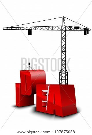 Construction of idea background