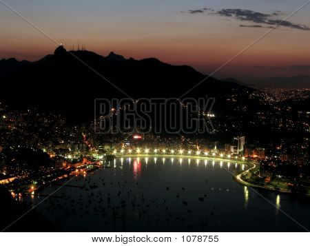 Sonnenuntergang in Rio De Janeiro 2