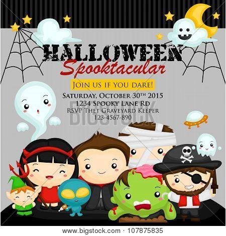 Halloween Character Invitation