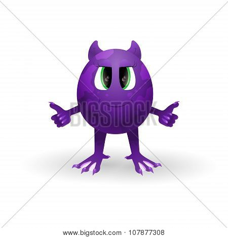 Vector cartoon monster.
