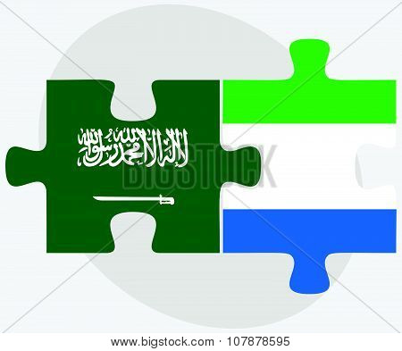 Saudi Arabia And Sierra Leone Flags