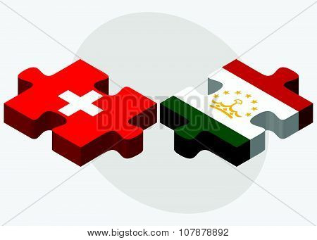 Switzerland And Tajikistan Flags