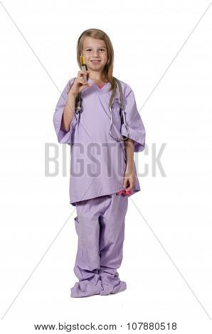Girl Doctor With Syringe