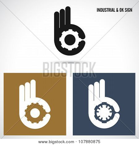 Creative B Letter Icon Abstract Logo Design Vector Template.letter B Fingers Vector Sign.hand Ok Sym