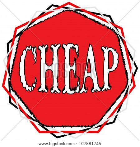Illustration Of Sign Cheap