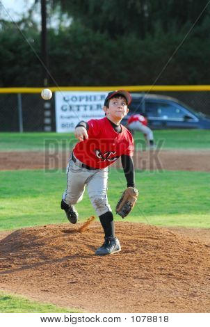 Pony League Baseball Pitcher #4