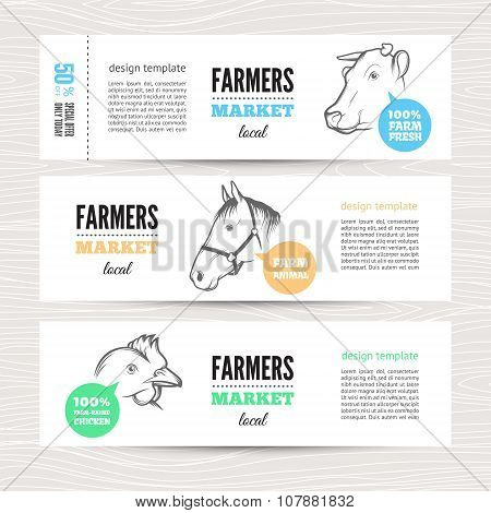farm vector banners