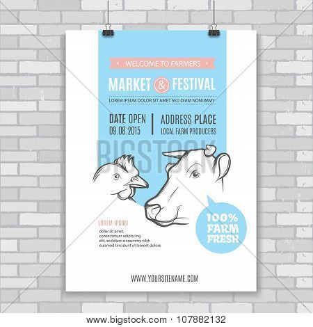 Vector farm Poster
