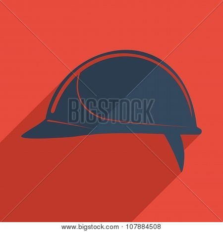 Flat icons modern design with shadow of helmet building