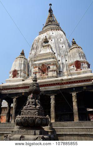 Ancient Hindu Temple At Khokana Traditional Newari Village Eight Kilometers South Of Kathmandu,nepal