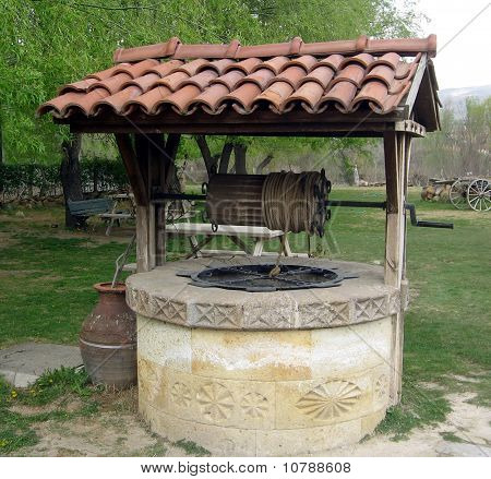 old well in the ancient village