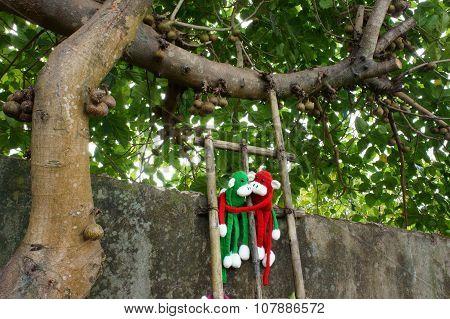 Knitted Monkey, Symbol 2016, Year Of The Monkey