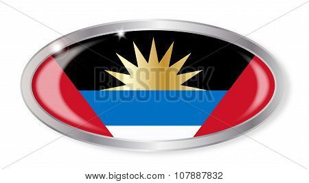 Antigua And Barbuda Flag Oval Button