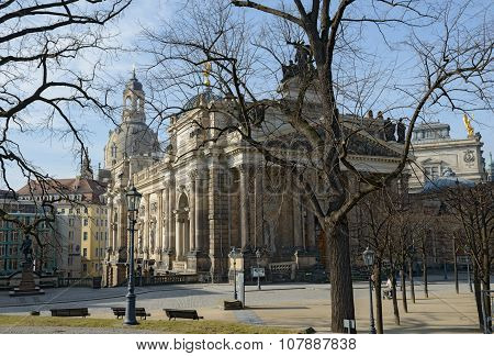View From Bruhl Terrace Towards Academy Of Fine Arts, Dresden, Germany.
