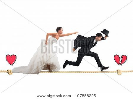 Stage a failed marriage