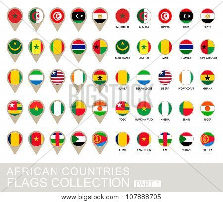 African Countries Flags Collection, Part 1