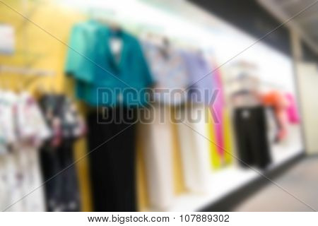 Blurry Defocused Image Of Apparel In Department Store