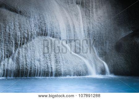 Jangle Landscape With Erawan Waterfall. Kanchanaburi, Thailand