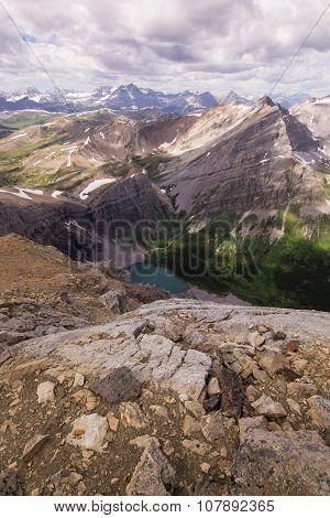 Canadian rockies meadows and peaks