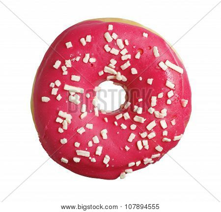 Donut With Strawberry Icing