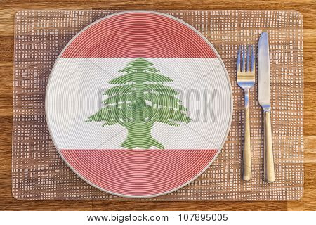 Dinner Plate For Lebanon