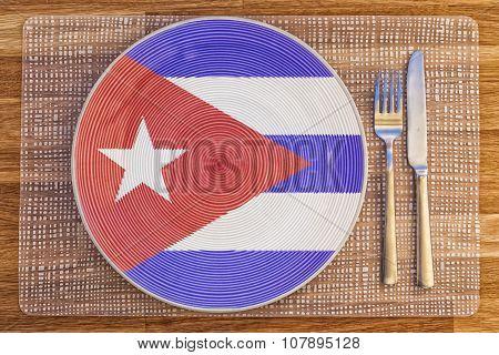 Dinner Plate For Cuba