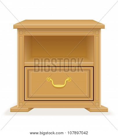 Nightstand Furniture Vector Illustration
