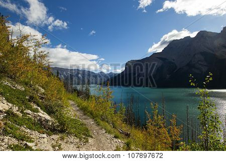 Lake Minnewanka fall